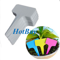 Wholesale 500pcs Plastic Plant T type Blank Tags Marker Nursery Garden Labels Pot x100MM