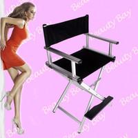 aluminium chairs - Portable Aluminium foldable beauty salon hairdressing cosmetic makeup chair director chair