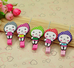 Wholesale Mixed Fashion Baby Accessories Recycle Rubber Cartoon Girls Children Girl Jewelry Hair Clip HairPins Hairwear