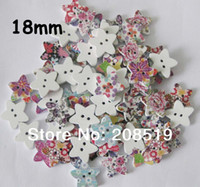 Cheap WB0106 scrapbooking wood button mix 240pcs Star shape 18mm buttons for craft sewing buttons