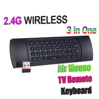 Wholesale 2 GHz Wireless Mini Remote Control Keyboard and Usb Optical Fly Air Mouse Voice for Mini PC XBMC Android Smart TV Box HTPC