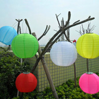 Wholesale Colorful Multicolor Solar Chinese Lantern Wedding Party Outdoor Light Garden Lamp