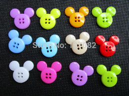 Wholesale mm Mixed Micky Mickey Mouse Cartoon Buttons Nylon Mouse Buttons Hole Sewing Baby Cafts