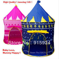 Cheap Ultralarge Children Beach Tent Baby Toy Play Game House, Kids Princess Prince Castle Indoor Outdoor Toys Tents Christmas Gifts