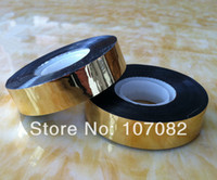 Wholesale 12 Rolls Golden Holographic Bird Scare Tapes Metallic Tapes For Gift Packing mmx50yards per roll