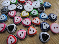Buttons assorted clothing designs - 400pcs Assorted Dress Buttons mm Fashion Round Resin With Triangle Design Buttons For Clothes Sewing Accessory Baby Buttons