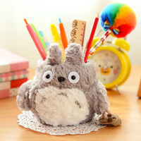 Wholesale Pen Pencil Holder Cute Cartoon Plush Kawaii MY Neighbor TOTORO Desk Decoration Storage Mini Gift