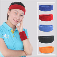 Wholesale Best Head Sweat Band Sports Gym Yoga Volleyball Basketball Tennis UNISEX MENS WOMENS Red Blue Orange Black
