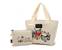 makeup for women of color - OP Japanese Magazine Appendix Cosmetic Bags Set of Beige Color for Women Handbags Makeup Storage Bags