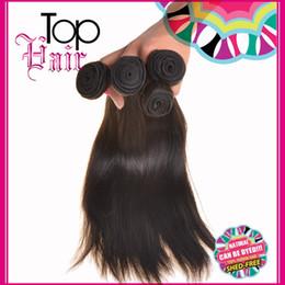 Descuento teñidos haces de pelo de malasia Virgin Peruvian Hair Weave Extensiones de cabello brasileño indio de Malasia Virgin cabello recto paquetes puede ser teñido 7A mejor calidad