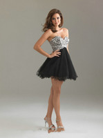 Cheap Sweetheart Corset Back Tulle Pink Short Prom Dress