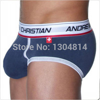 Cheap Wholesale-OP-1pcs lot Andrew Christian Mens Underwear Briefs Modal Penis Sheath Brand Gay Pouch Male Underwear Lingerie Cueca Trunk Cock Soc