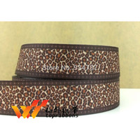 character ribbon - Character ribbon Leopard ribbon quot yards printed grosgrain ribbon