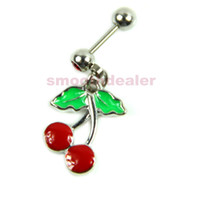 Cheap 10PCS Cartilage Stud Earrings Stainless Steel Piercing Cherry Fruit Style New-PY