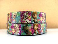 Wholesale Frozen ribbon quot yards printed grosgrain ribbon hair bows accessory