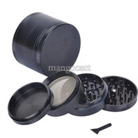Wholesale OP New quot pc Chromium Crusher Tobacco Spice Herb Grinder Black SV001702