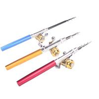 fly rod - Mini Telescopic Pocket Pen Fishing Rod Pole Reel Pen Fishing Rod Kit Combo