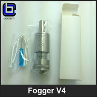 Cheap Fogger V4 Atomizer with Dual Coil Stainless Steel Tank Vaporizer Rebuildable Atomizer Updated Fogger V2 v3 Kayfun lite Taifun GT
