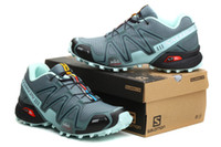 Wholesale 2014 Hottest Salomon Speedcross CS Sneakers Cheap Mens Shoes High Quality Basketball Shoes Fashion Grey Running Shoes Athletic Sneakers