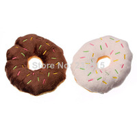 Wholesale 5pcs Fashion Pet Toy Dog Puppy Chew Throw Sound Squeaker Squeaky Cotton Wool Donut