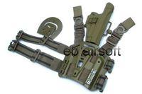 airsoft leg holster - OP AIRSOFT CQC DROP LEG HOLSTER PLATFORM PISTOL SERPA TAN FOR P226
