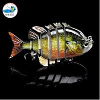 big catfish - 2Pcs Fishing Lure Segments Swimbait Crankbait Hard Bait Fresh Shallow Water Fishhook Bass Catfish Minnow Fishing Tackle