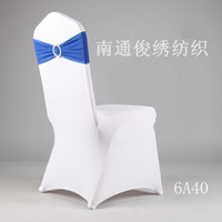 table chair - 2014 Wedding Events Party Buckles Elasticity High quality Colorful Cheap Hot sale Navy Blue Chair Covers Bows Table Cover