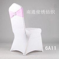 Wholesale High quality Colorful Cheap Wedding Decorations Party Buckles Supplies Green Elasticity Pink Chair Covers Bows For Wedding