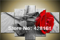 Cheap red rose oil painting Best picture frame oil paintin