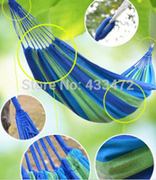 Cheap Free Shipping Outdoor Furniture Canvas Hammock Stripe Hammocks Canvas Cloth Children Kids Indoor Cot Bed Camping Hammock Swing