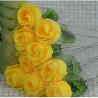 Wholesale Artificial Silk Flower Rose Stem Bridal Wedding Bouquet Party Decoration Home Wedding Decor color to choose