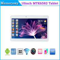 Wholesale 10inch MTK6582 Quad Core Tablet PC Android G GB tablet with G GPS Bluetooth MP MP Dual Camera Dual SIM