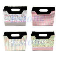Cheap Wholesale 10pcs lot Cute Makeup Cosmetic Stationery DIY Paper Board Storage Box Desk Decor Organizer