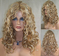 blonde lace front wigs - Cheapest Synthetic Wig quot quot Strawberry with Pale Blonde Highlights Curly Synthetic Lace Front Wig with Layers Synthetic Wigs