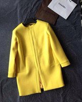 Wholesale 2014Autumn New Arrival European Street Style Wool Blends Fashion Outerwear Casual Runway Costs Classic Wool Coats High quality Coat large