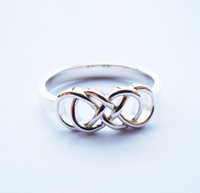 Wholesale Solid Sterling Silver double infinity ring Handmade All Sizes to