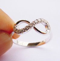 Cheap Infinity Ring, Sterling Silver&CZ Infinity Ring Handmade ALL Size(2 to 16)