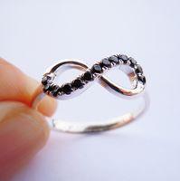 Cheap Infinity Ring Black CZ Best infinity ring