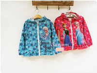 Wholesale 2014 Frozen Red Blue Hoodies Sweatshirts coat Anna Elsa new design long sleeve Jackets A001