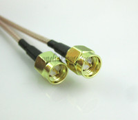 Wholesale SMA male to SMA Plug connector Extension Pigtail Cable RF coaxial cable RG316 cm