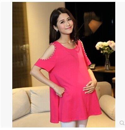 2017 wholesale 2 014 pregnant t shirt korean fashion loose for Dress shirts for big bellies