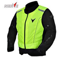 safety vests reflective - Germany NERVE motorcycle reflective vest cycling jerseys Paladins traffic safety vest vest guards High density polyester D Oxford cloth
