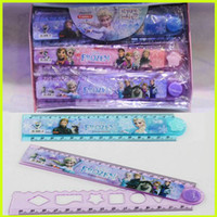 Wholesale Frozen Folding Ruler Elsa Anna Cartoon Ruler Kids Children CM Folding Ruler Students Gift Student Stationery GZ GD36