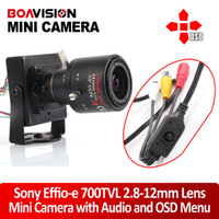 Wholesale HD TVL Effio e H Sony CCD Mini CCTV Home Security Tiny FPV Audio Mic Camera OSD D WDR mm Manual Focus Zoom Lens