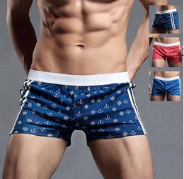 Wholesale Mens underwear Male Sexy Boxer Brief Cotton Underwear Low Rise mens boxer shorts Pouch Boxers Briefs
