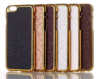 Wholesale Bling Hard Football Square Case for iPhone G Air inch Electroplating Frame Hard Chromed Golden Cover Skin MOQ