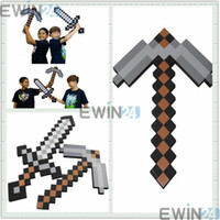 Wholesale New Foam Minecraft DIAMOND Sword and PickaxeToys Gray EVA For Kids Adults Movies Accessories