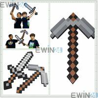 New Foam Minecraft DIAMOND Sword and PickaxeToys Gray EVA Fo...