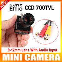 Cheap HD 700TVL Effio-e 960H Sony CCD Mini CCTV Home Security Tiny FPV Audio Mic Camera D-WDR 9-22mm Manual Focus Zoom Lens