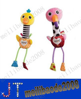 flamingo - Lamaze New two singing birds Toy flamingo and ostrich hand rods Bird plush baby toys Stuffed Doll MYY2222A